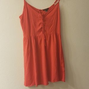 Nwt red lace up dress forever 21